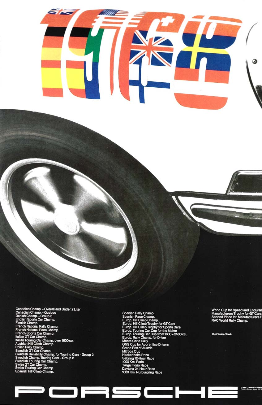 Strenger's celebration of the 911s success in 1968