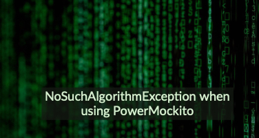 NoSuchAlgorithmException when using PowerMockito