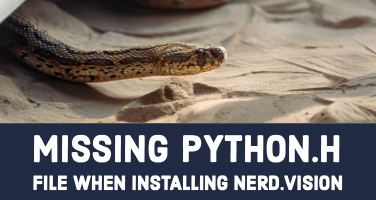 Missing Python.h file when installing nerd.vision
