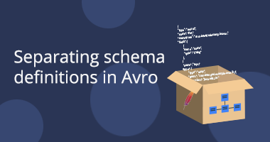 Separating schema definitions in Avro