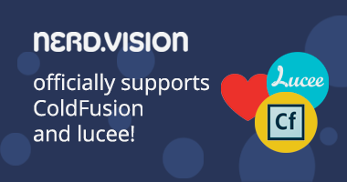 NerdVision officially supports Adobe ColdFusion and Lucee!