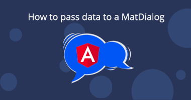 How to pass data to a MatDialog