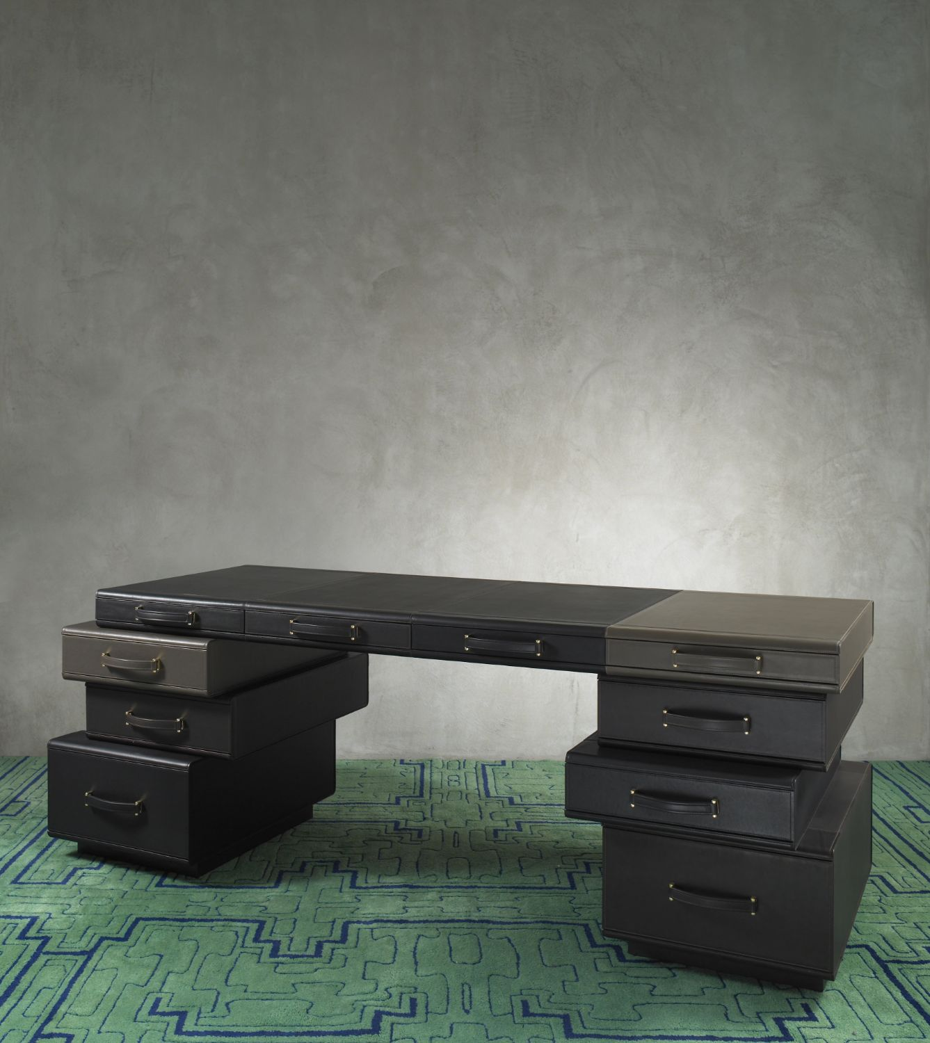 Desk of Briefcases