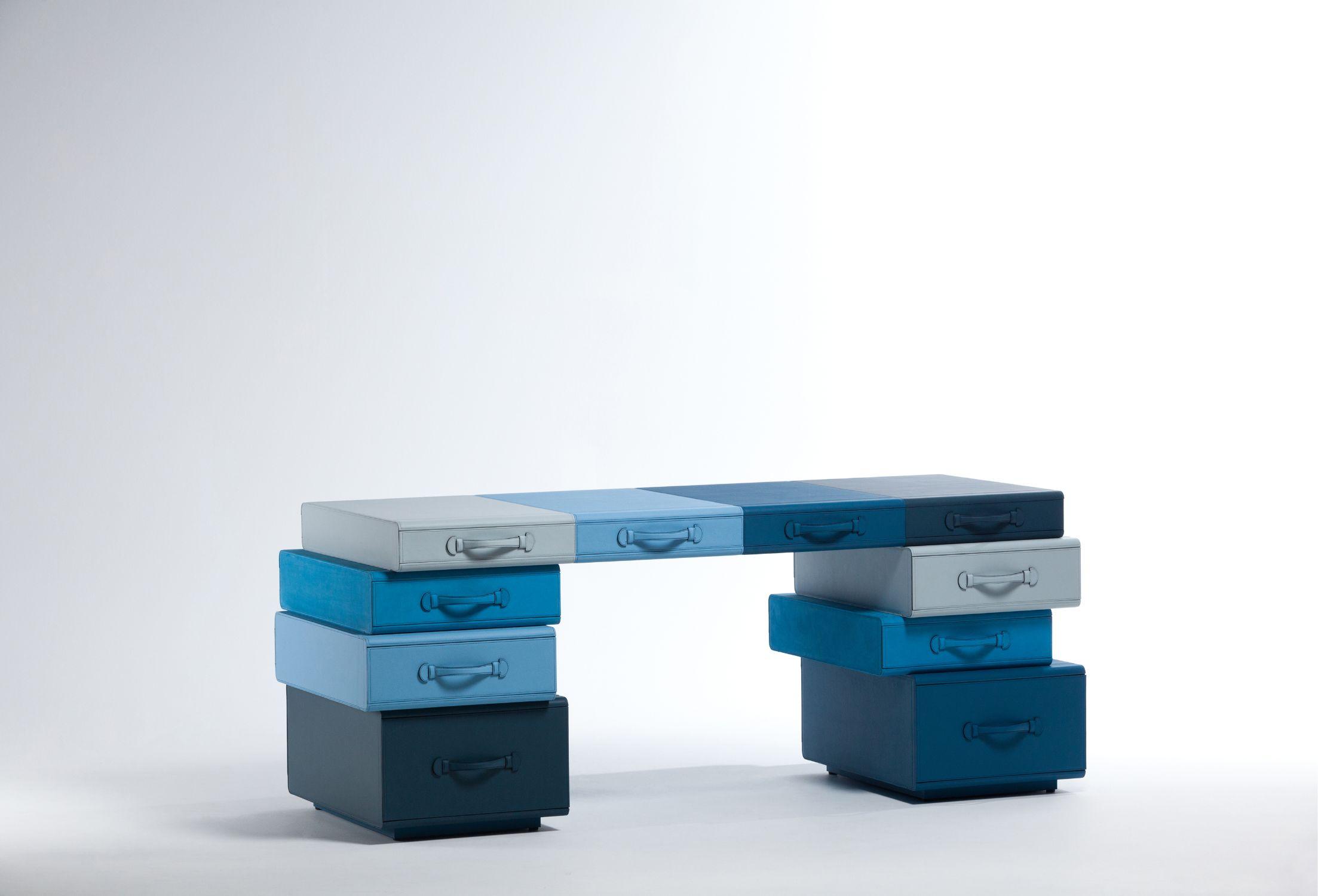 Desk of Briefcases