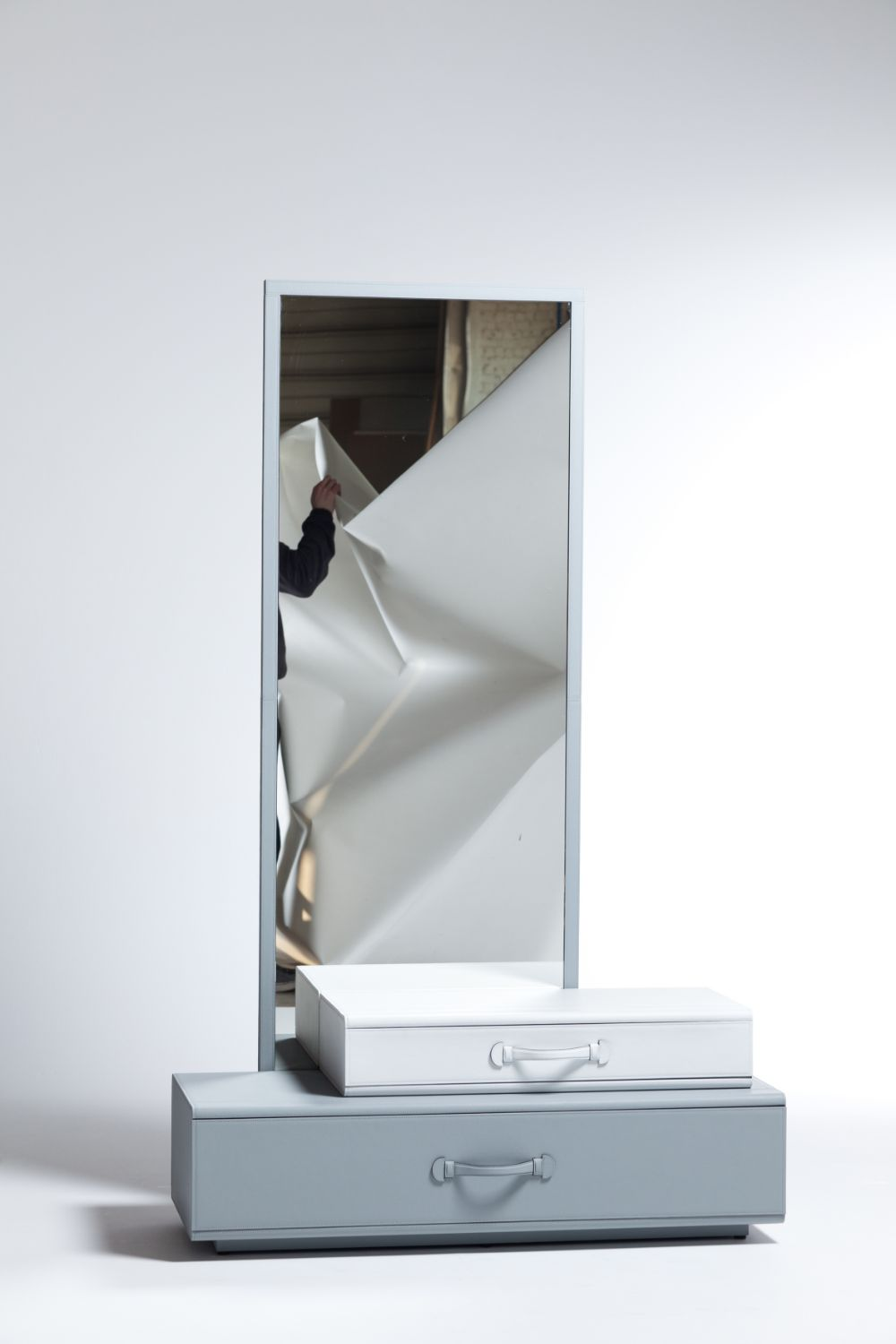 Mirror With Suitcases