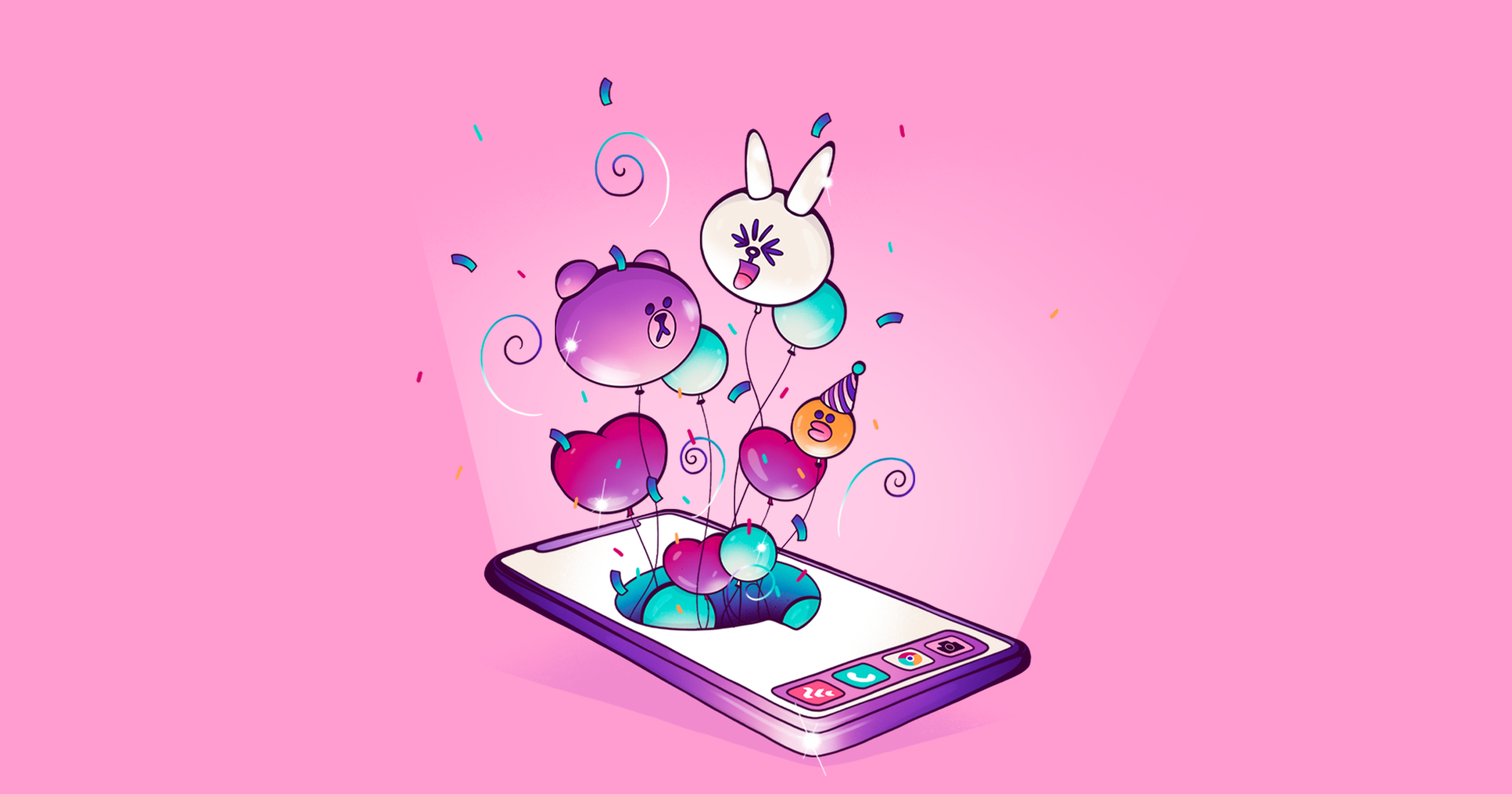 Line, the app that makes millions selling stickers