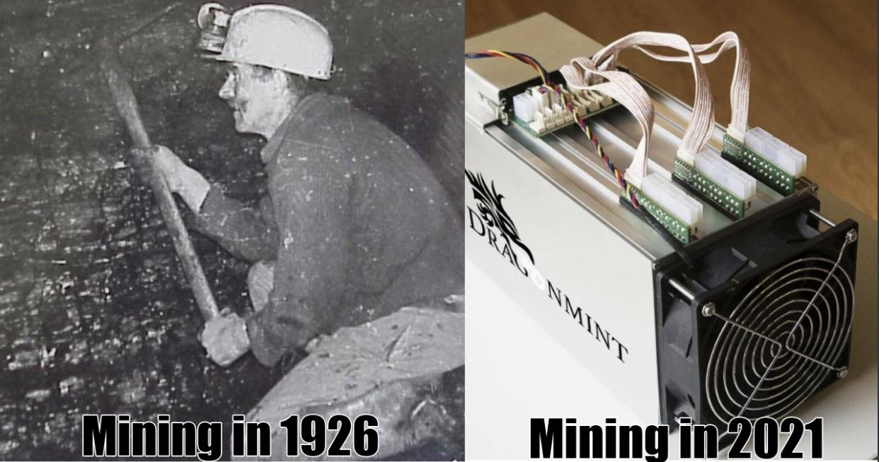 Cryptocurrency mining ASIC machine