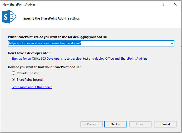 New SharePoint Add-In