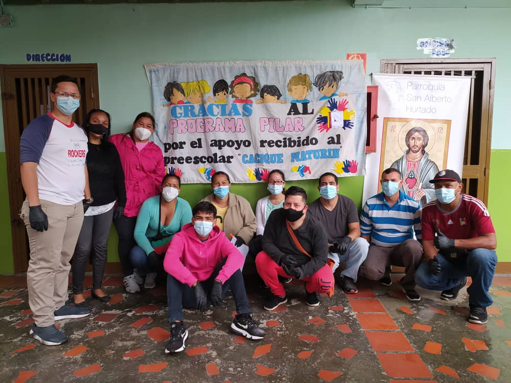 We are fighting malnutrition in young children with a programme in a low income are in Caracas and one village in Sucre state.