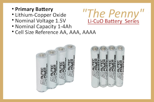 "Li-CuO Battery Series ""The Penny"""