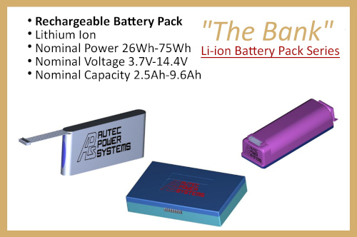 """Li-ion Battery Pack Series """"The Bank"""""""