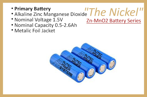 """Zn-MnO2 Battery Series """"The Nickel"""""""