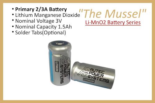 "Li-MnO2 Battery Series ""The Mussel"""