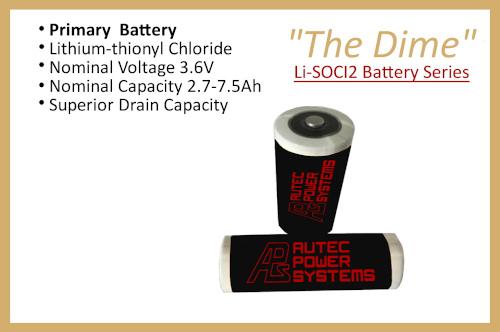 "Li-SOCl2 Battery Series ""The Dime"""