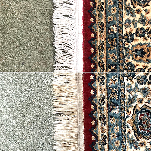 before and after rug clean