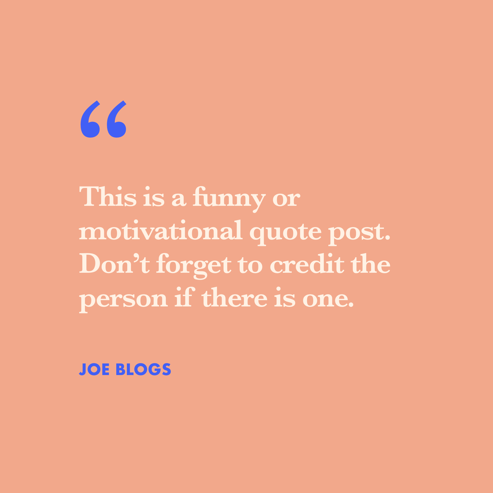 A funny quote block in brand colours