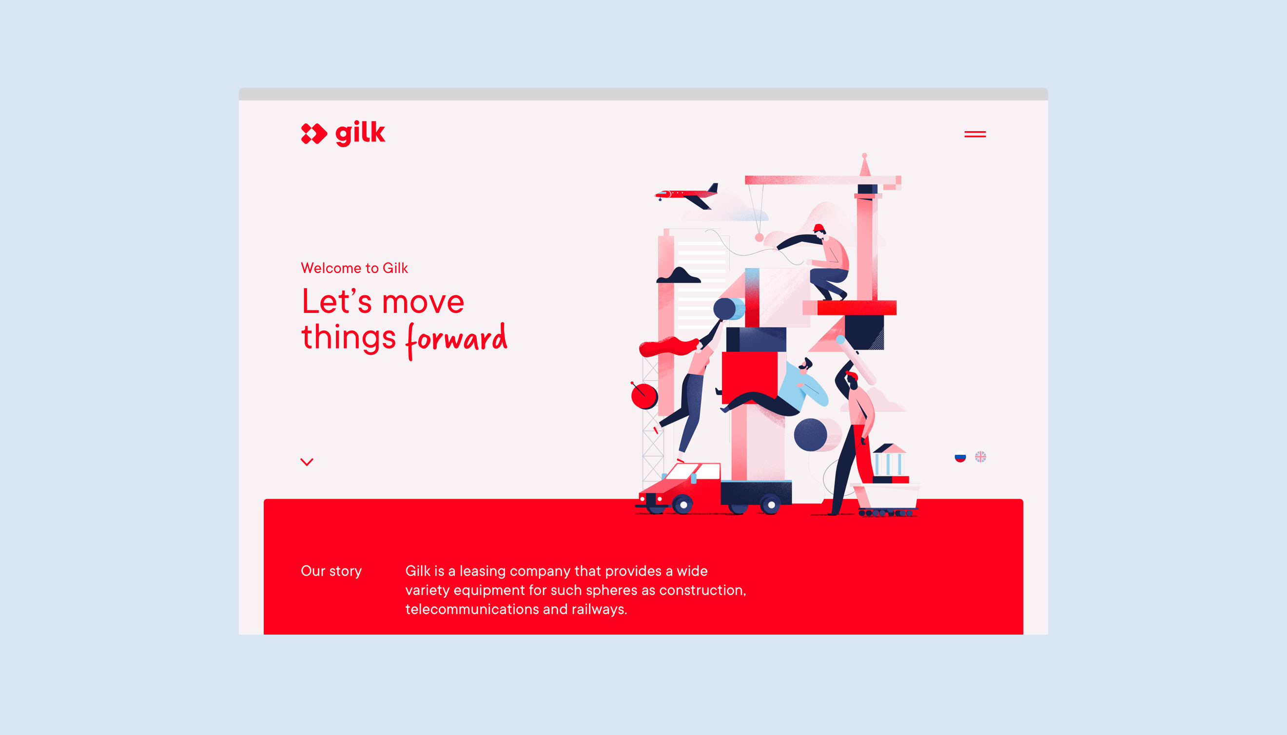 Gilk-website-design