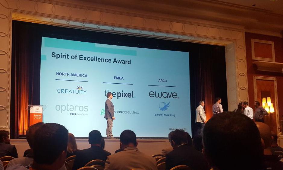 2018 Magento Spirit of Excellence Award