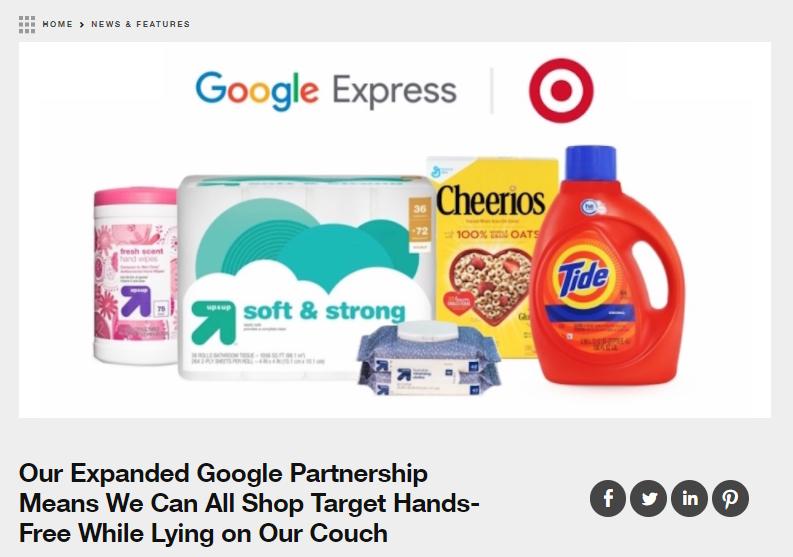 target announcement google express