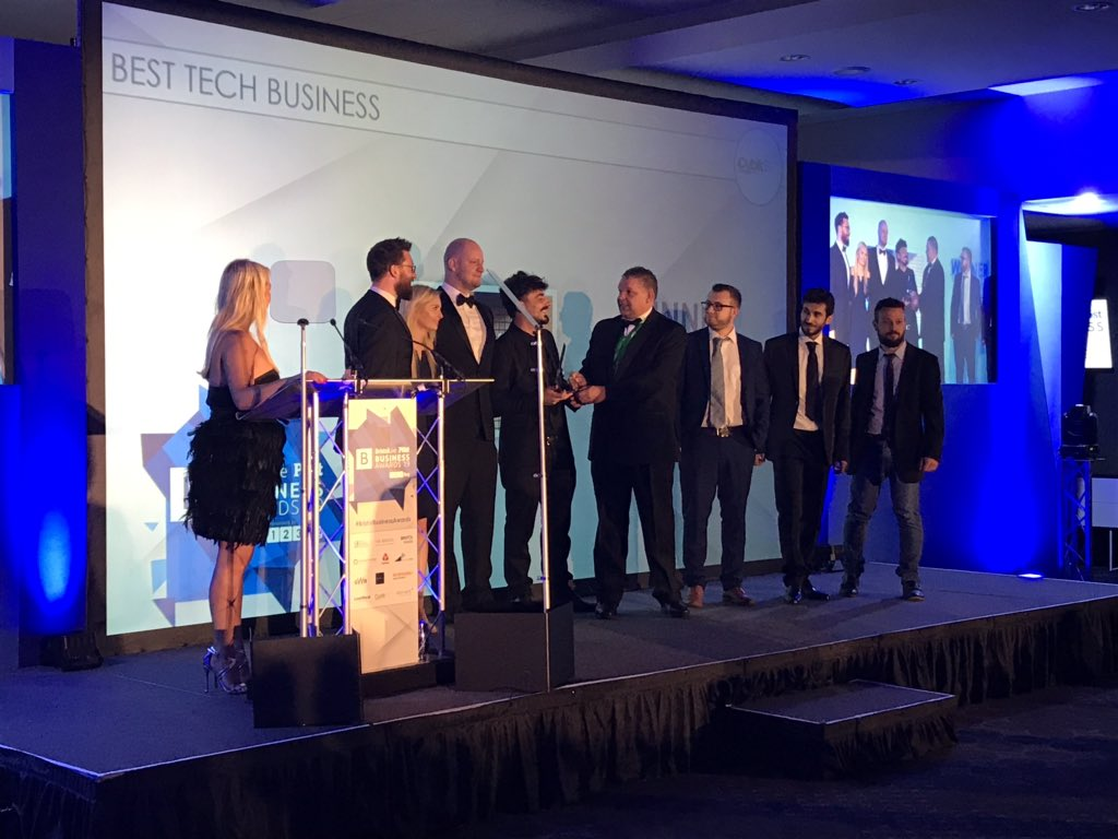 The Pixel Win Best Tech Business at BristolLive & Bristol Post Business Awards 2019