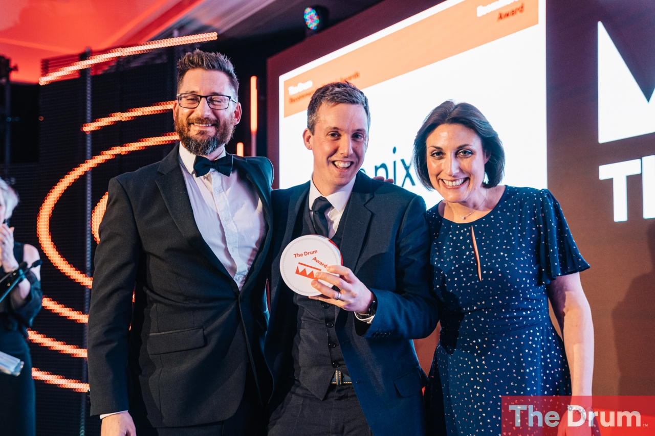 The Pixel Win at The Drum Recommends Digital Awards 2019