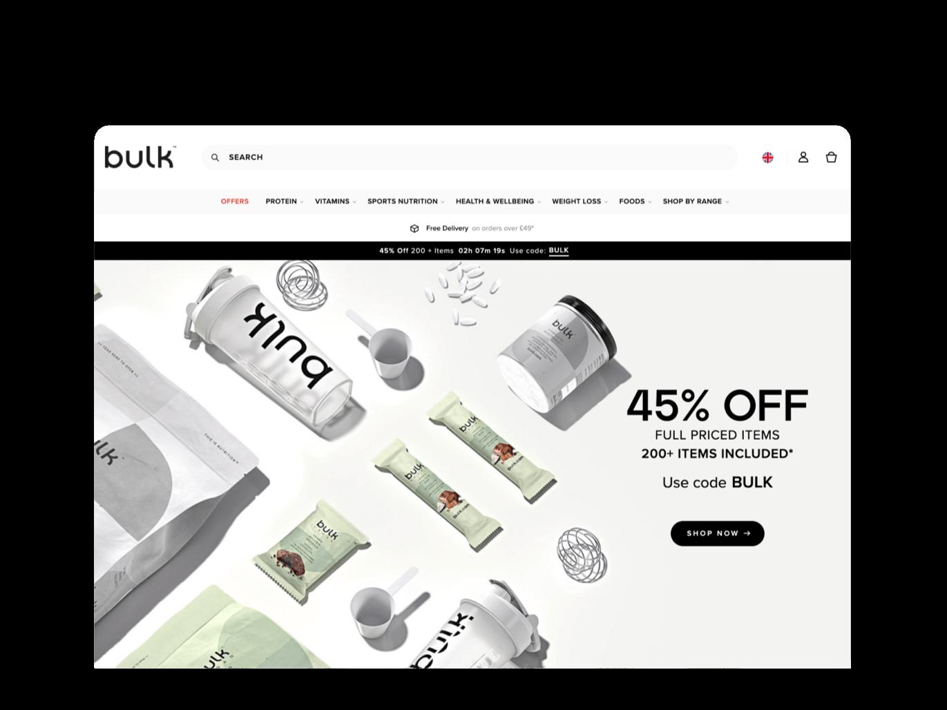 BULK POWDERS Migration to Bulk.com