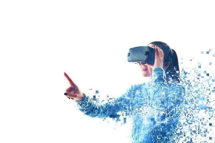 "A woman ""disintegrates"" as she enters a VR world."