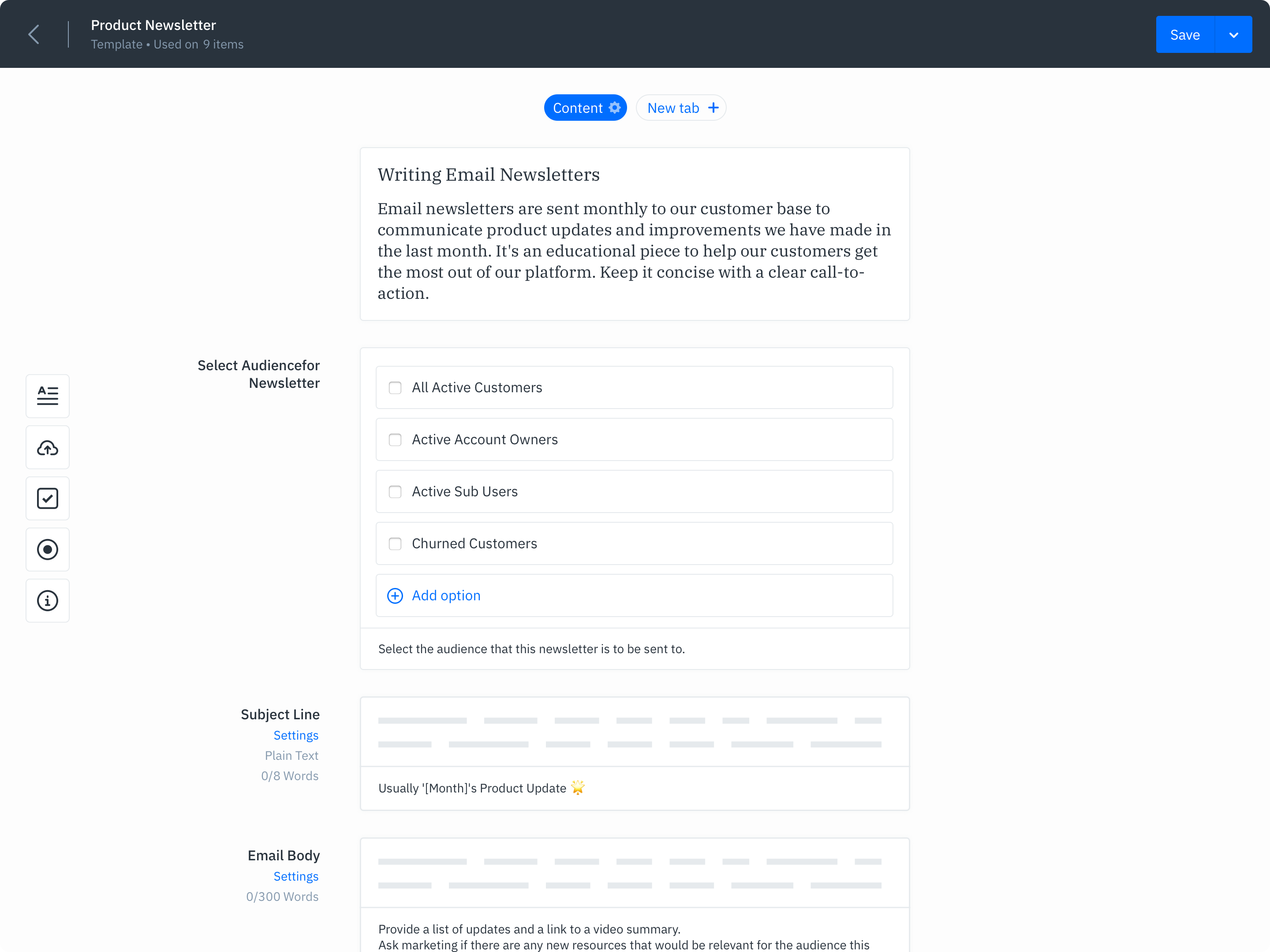 GatherContent Integrations UI