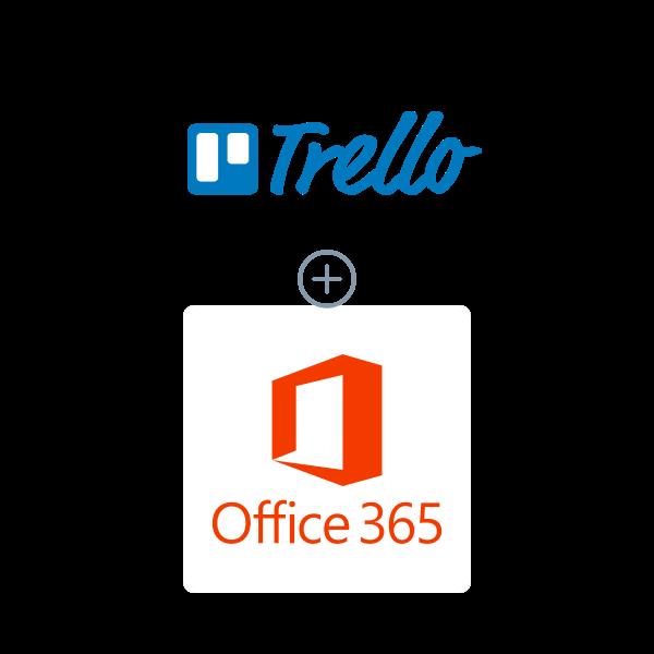 Trello + Microsoft Office 365 Logo