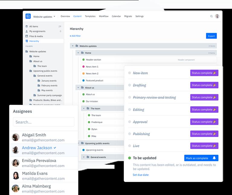 GatherContent Platform UI