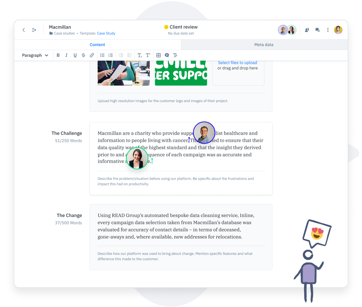 GatherContent content collaboration UI