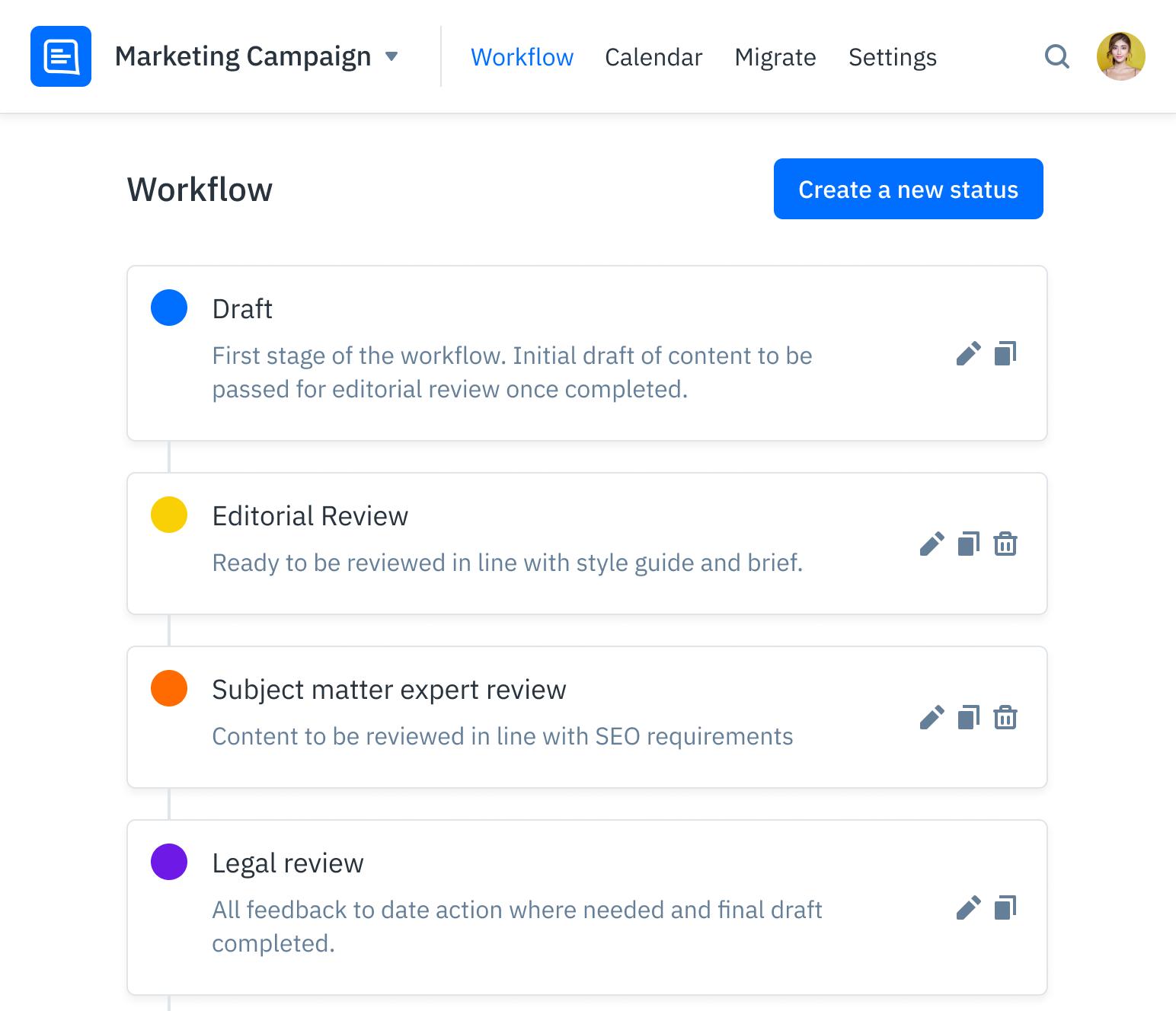 GatherContent Content Editor UI