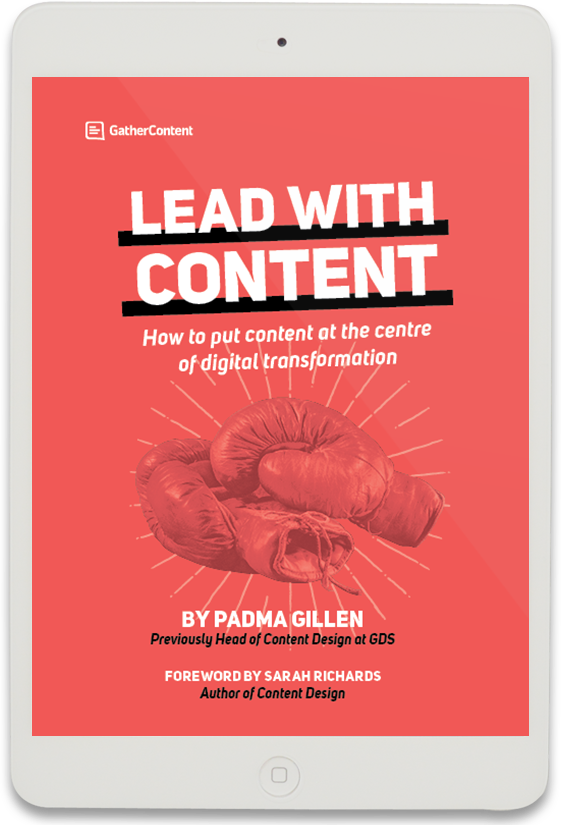 Lead With Content Book Cover