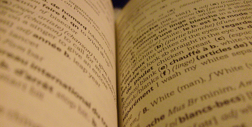 Image: Dictionary by Dylan Cantwell. Cropped. Some rights reserved.