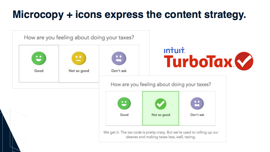 Turbo Tax content strategy example