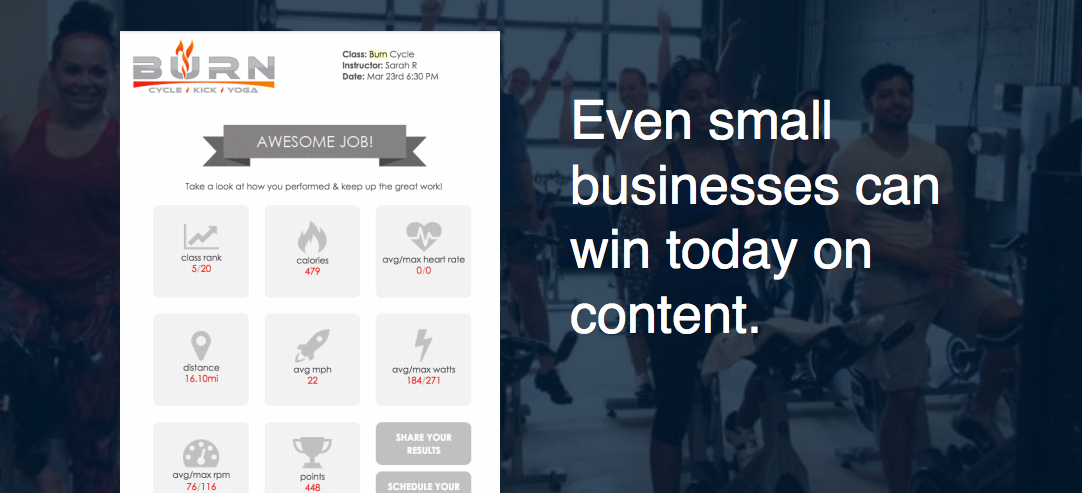 Example of a small business content strategy