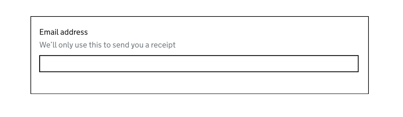 GOV.UK Example of asking for an email address