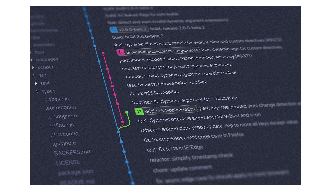Screenshot of a GitHub branch