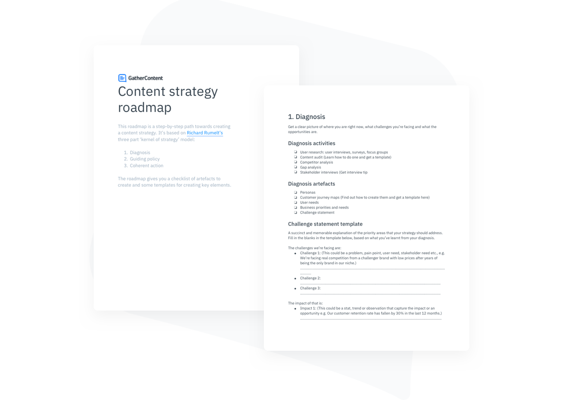 A content strategy roadmap template