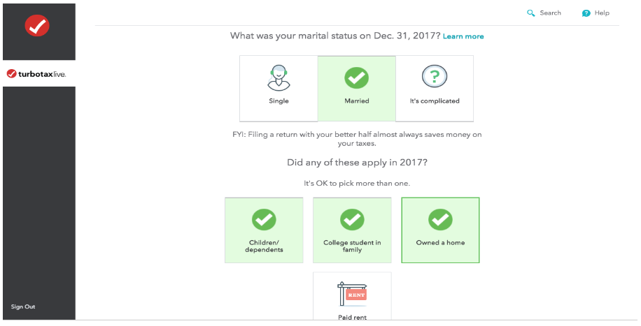 An example from the TurboTax website of how they have explained a complex process using plain language.