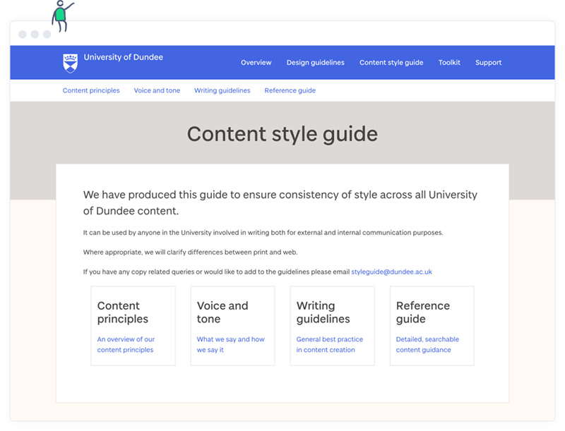 The University of Dundee's online content style guide.