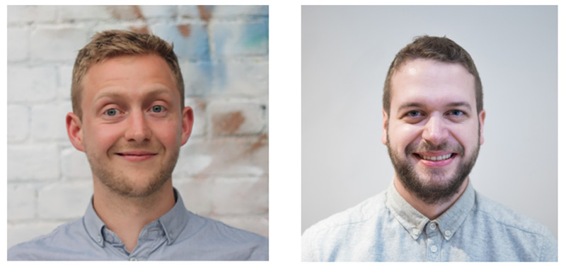 Left: Angus Edwardson, VP of Product, Right: James Darracott, Product Designer