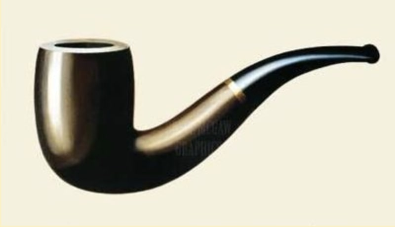 Painting of a pipe.