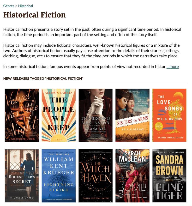 Goodreads historical fiction