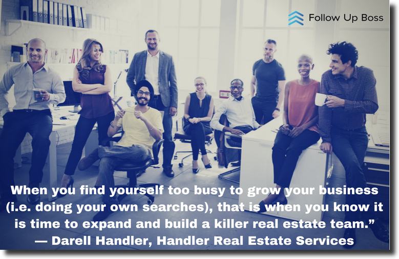 Team of real estate agents