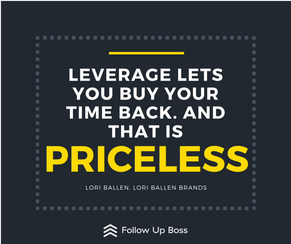 leverage lets you buy your time back