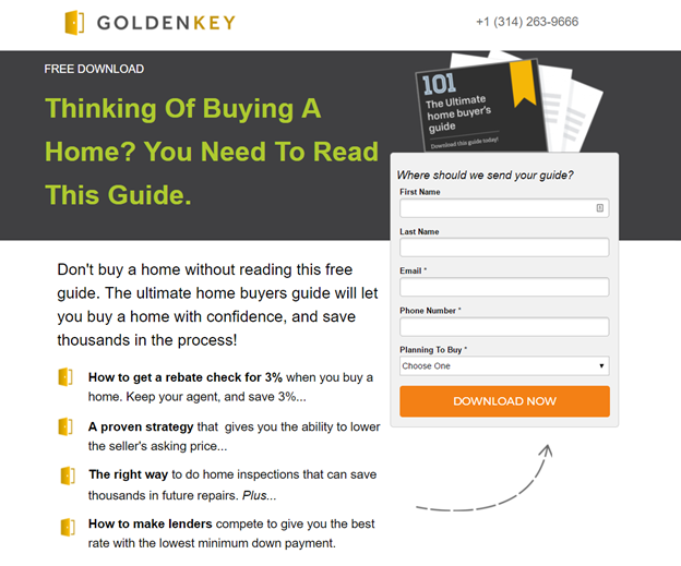 A good landing page should offer a clear value proposition