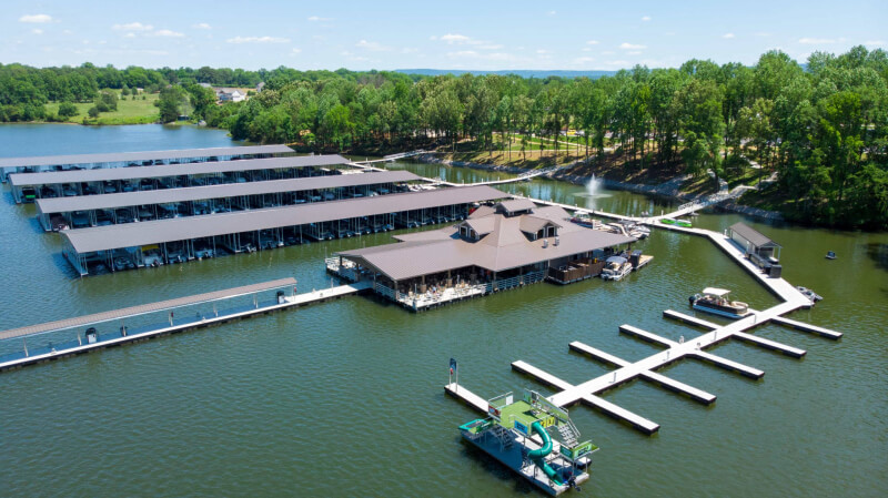 Drone Footage over Twin Creeks Marina