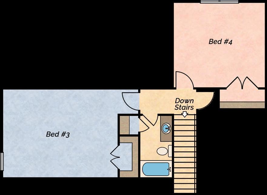 Big River lake villa floor plan 2