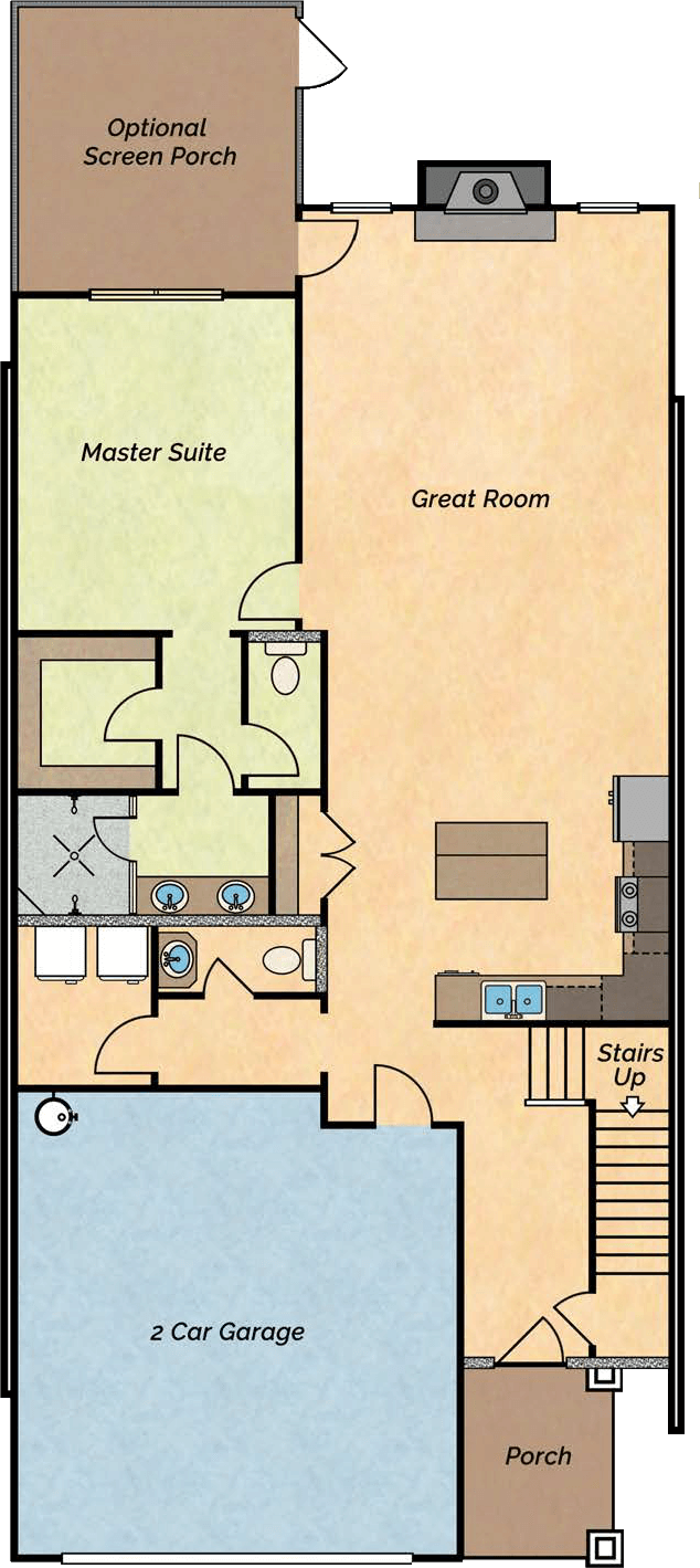 Lake Side lake villa floor plan 1